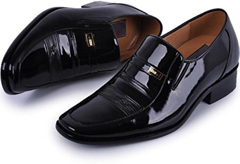 Innerhalb Der Zunahme Schuhe Männer Spitz Leder Farbe Licht Erhöhte 5cm Männliche Schuhe