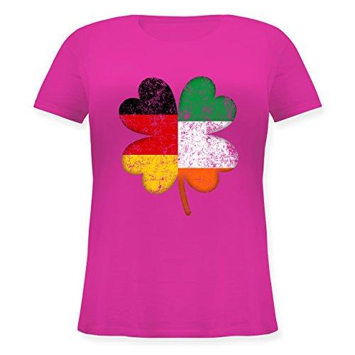Shirtracer St. Patricks Day - Deutschland Irland Kleeblatt - Lockeres Damen- Shirt in Großen