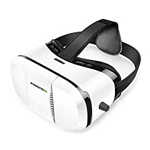 Pasonomi 3D VR Headset, Virtual Reality Headset for iPhone 6 6S plus, iPhone 5 5s, iPhone 7, Samsung S7 S6 Edge Note 5 and 3.5-5.5 inch Smartphone