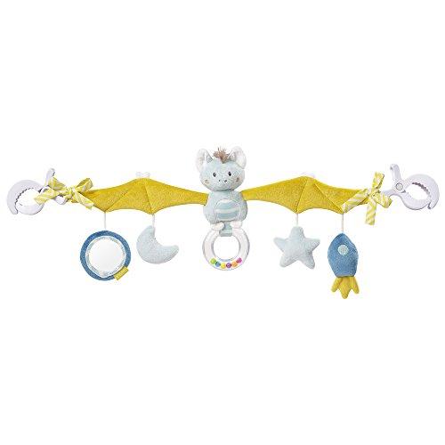 Fehn 065114 Kinderwagenkette Fledermaus - Mobile-Kette mit niedlichen Figuren für Babys und Kleinkinder ab 0+ Monaten - Länge: 48 cm - Mädchen Spielzeug Autositz