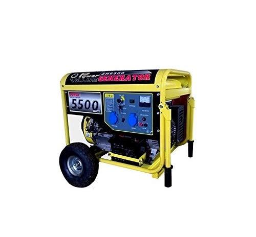 Gruppo elettrogeno/Generatore di corrente 5500W - 220V avviamento elettrico con ruote