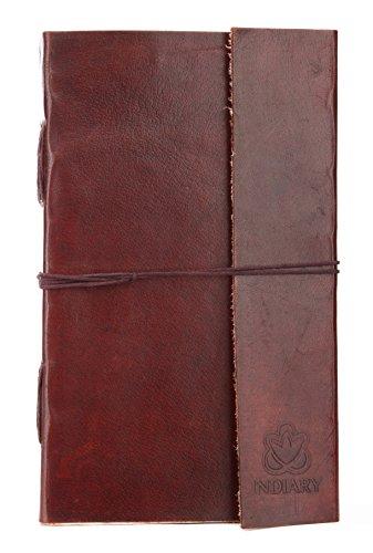 INDIARY echtes Leder Tagebuch / Notizbuch / Skizzenbuch aus Büffelleder handgeschöpftes Papier...
