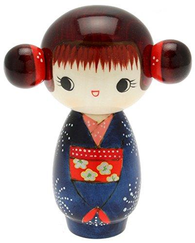 Usaburo Japanische Kokeshi Puppe, Hoshi 's Blue Kimono