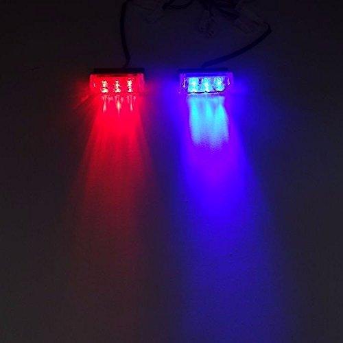 SHINA 2x3LED 12DC V 2W Feux auto Stroboscope Strobe Clignotant Flash d'urgence Alerte Pour Voiture Camion