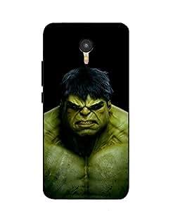 Snazzy Hulk Printed Black Hard Back Cover For Micromax Yu Yunicorn YU5530