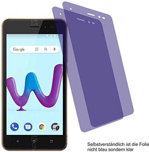 2X Crystal Clear klar Schutzfolie für Wiko Sunny 3 Bildschirmschutzfolie Displayschutzfolie Schutzhülle Bildschirmschutz Bildschirmfolie Folie