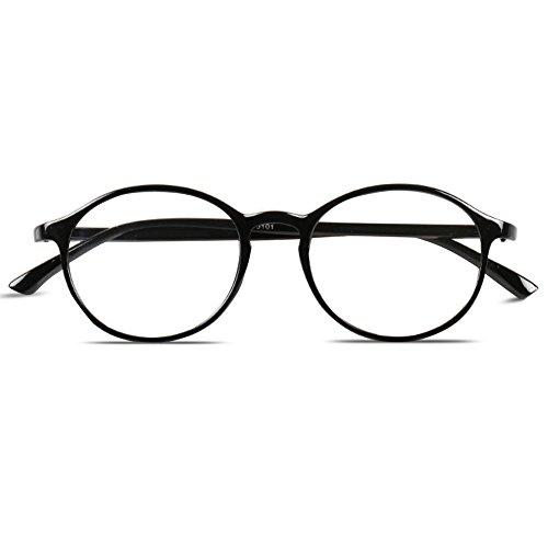 cd8ed6e427382e VEVESMUNDO Lesebrillen Damen Herren Retro Runde Nerd Flexibel Lesehilfe  Sehhilfe Arbeitsplatzbrille.