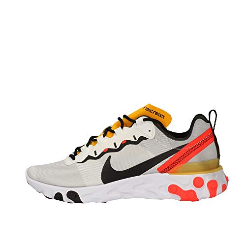 Nike React Element 55, Zapatillas de Trail Running para Hombre, Multicolor (White/Black/Bright Crimson 102), 40 EU