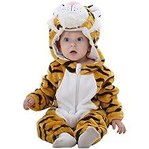 Queque Shine Jumpsuit Bebé Unisexo Bebé Recién Nacido Franela Mameluco  Invierno Ropa Una Pieza Pijamas Animal d71fd57c707