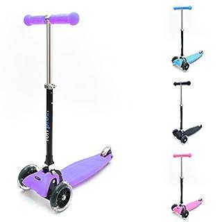 fun pro ONE - der sichere Premium Kinder Roller, LED Räder, faltbar, ab 2 Jahre (Kickboard, Tretroller), TÜV geprüft