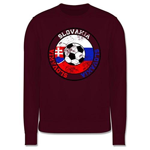 EM 2016 - Frankreich - Slovakia Kreis & Fußball Vintage - Herren Premium Pullover Burgundrot