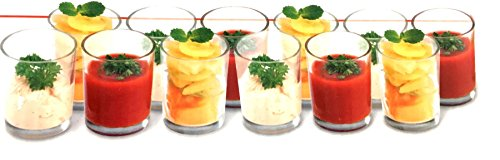 Caja de 12x Cristal para aperitivos cóctel de frutas cuencos de pos