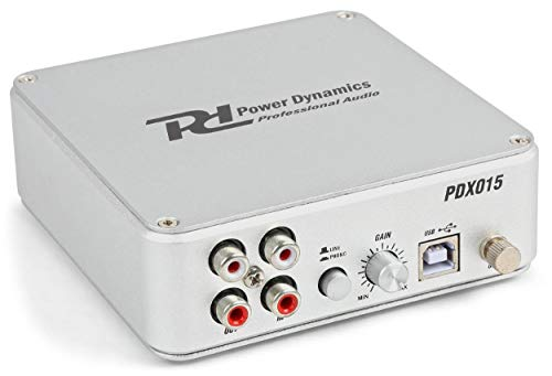 Power Dynamics PDX015 Préampli Phono USB avec logiciel