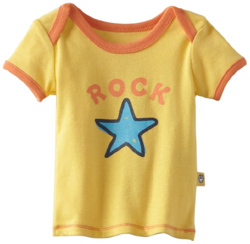 Life is Good Baby Rock Star Ringer Tee, Jungen, Sunny Yellow (Baby-rock-tees)