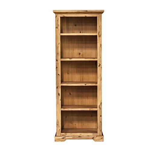 André Chalet Etienne Regal 75 cm, Holz Akazie teilmassiv, gebürstet und Lackiert, B 78 cm x H 195 cm x T 35 cm