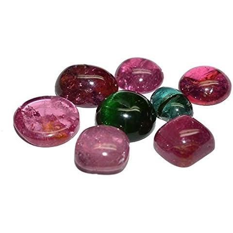 turmalina piedras preciosas cabochon schliffe variadas 18.86quilates