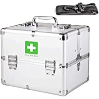 SLH Haushalts-Aluminiumlegierungs-Medizin-Kasten-mehrschichtige Familien-Erste-Hilfe aus dem Kasten-Medizin-Aufbewahrungsbehälter preisvergleich bei billige-tabletten.eu