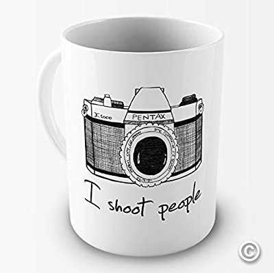 I Shoot People Camera Photography Novelty Funny Mug Tea Coffee Gift Office Cup from TWISTED ENVY