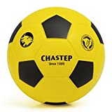 Zauberei Chastep Normal 20cm Foam Ball Indoor/Outdoor Football Soccer Perfect for Kids or Beginner Play and Excercise Soft Kick & Safe (Gelb/Schwarz)