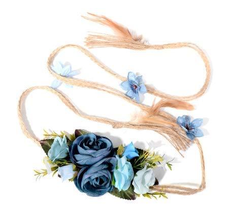 GYFTEUG Neueste vorzügliche Elegante Blumen-Taillen-Kette für weiblichen Damen-feinen Kleid-Gurt-Borten-Dekorations-Schmuck (Schnalle Borte)