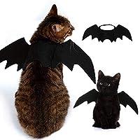 YOUHA Cute Halloween Cat Costume Small Pet Cat Bat Wings Halloween Cat Wings Hallowen Cat Accessories Halloween Decorations