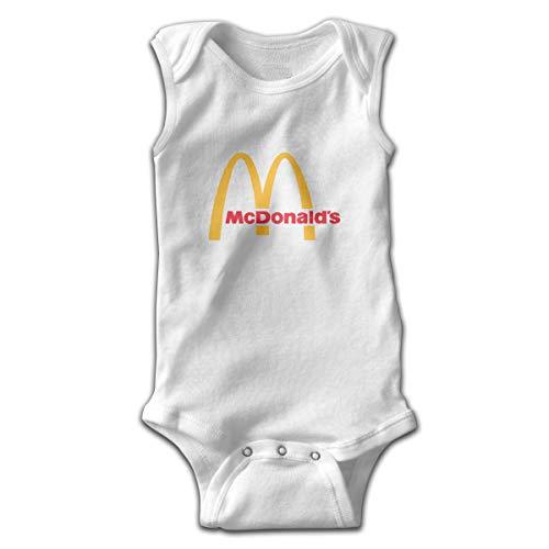 Solid-footed Sleeper Pajamas (Kinder Baby Mädchen Jungen Sommer T-Shirt McDonalds Logo T Shirt Shirts Für Kleinkind Mädchen Jungen Kurzhülse Weiß 0-3 Mt)