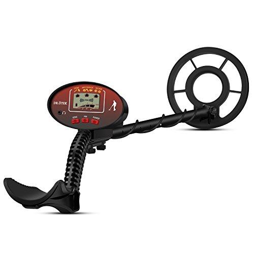 DR.ÖTEK Detector de Metale para Adultos y Niños con Pinpoint, Barra Totalmente Ajustable y Bobina de Búsqueda de 21 cm,...