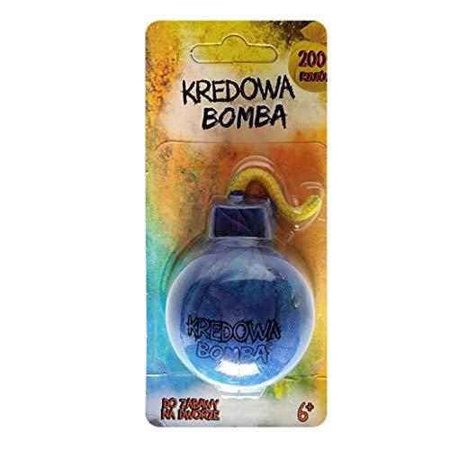 Upxiang Kreide Bombe Kreidepulver Neonbeutel Wurfspiel Festival Farbpulver Kreidebomben Splash Kreide Bombe Straßenkreide (Blau)