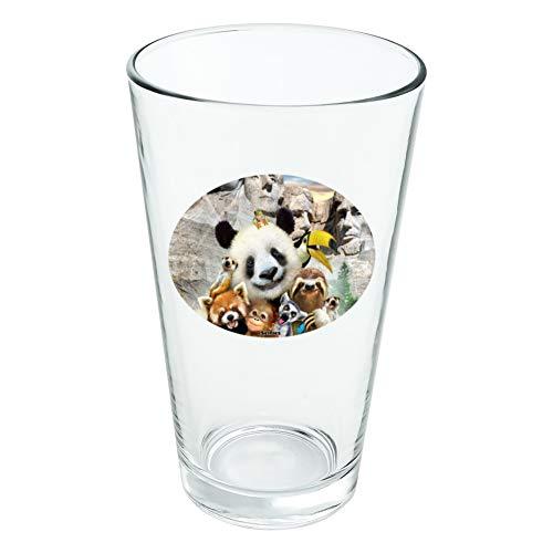 Plat MT. Rushmore National Memorial du Dakota du Sud Panda paresseux fantaisie 453,6 gram Pinte à boire en verre trempé
