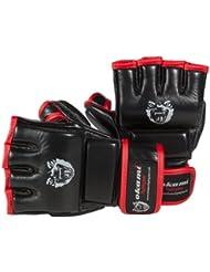 OKAMI Fightgear Hi Pro - Guantes para artes marciales mixtas, color negro/ rojo, talla XL