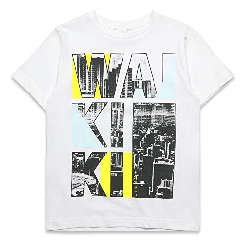 ESPRIT Kids Boy's T-Shirt Ss White 010, 170 (Size: X-Large)