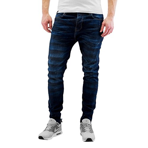 Bangastic Herren Jeans / Slim Fit Jeans K125 Blau