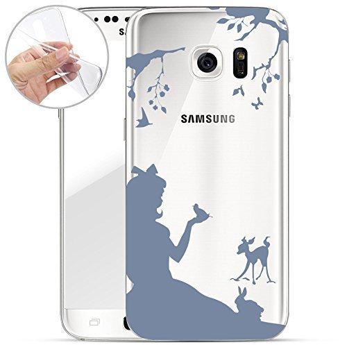 Motivo Serie 1 Custodia Rigida Iphone - Primo caffè, Samsung Galaxy S6 Edge Bambina nella foresta