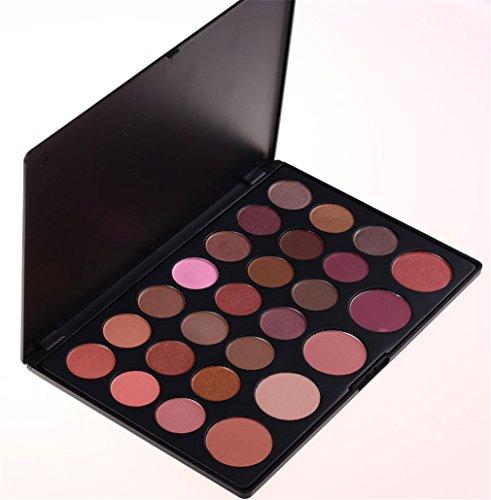 Pure Vie® 26 Colori Palette Ombretti Cosmetico Tavolozza per Trucco Occhi - Adattabile a Uso Professionale che Privato