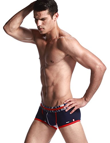 SEOBEAN Uomo Low Rise Sexy tronco Boxer Brief 2560 Navy