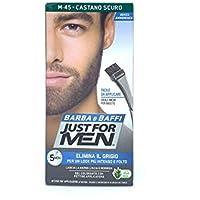 Just for Men - Barba y Bigote Color Permanente con Pincel sin amoniaco castaño Oscuro M 45 2 x 14 ml
