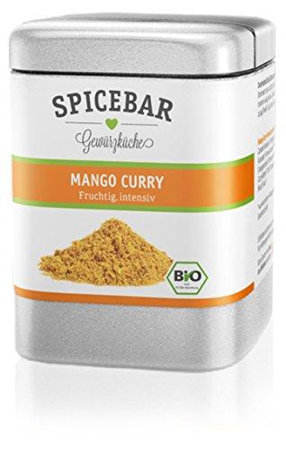 Spicebar Mango Curry, Mild und leicht Scharf, Currypulver, Bio (1x 70g)