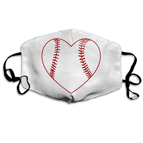 Daawqee Gesichtsmaske Anti Staub Schutzhülle Mundmaske Masken Heart Baseball Pattern Mouth Masks Unisex Anti-Dust Flu Washable Reusable Mouth Mask Fashion Design for Girls Women Boys Men