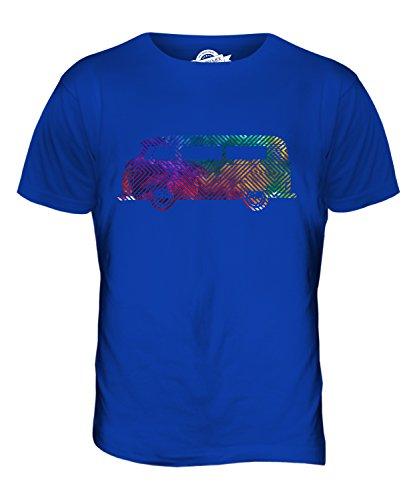CandyMix Bunte Wohnmobil Herren T Shirt Königsblau