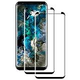 POOPHUNS Pellicola Vetro Temperato Compatibile con Samsung Galaxy S8,S8 Protezione Schermo 3D Copertura Completa Trasparente Ultra Resistente, Anti-Graffi, Anti-Impronte (2 Pezzi)