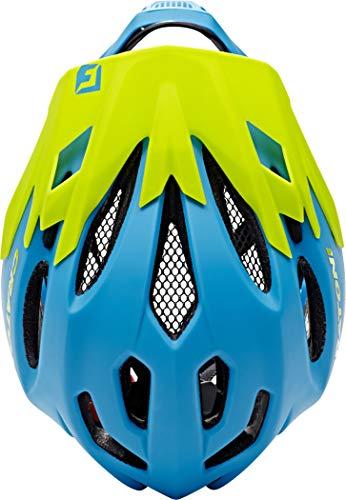 Cratoni Fahrradhelm C-Maniac, Blue/Lime Matt, 58-61 cm, 112406B3 - 6