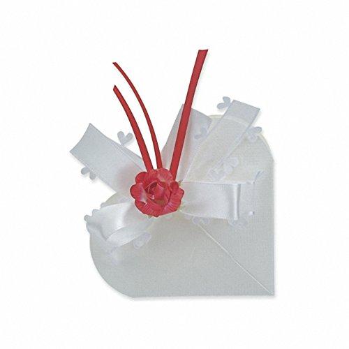 Boîte Cœur en soie blanc