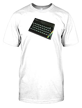 "Sinclair ZX Spectrum 48k Home Computer Mens T Shirt - white - Men 46-48"" - XL"
