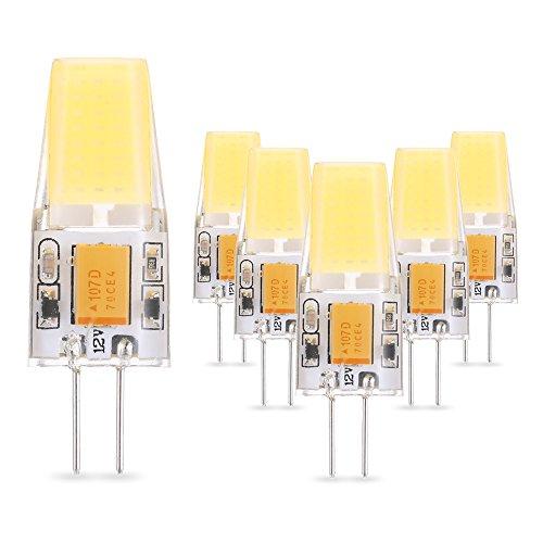 Tomshine G4 Led Lampe Birne 2.5W Ersatz für 25W Halogenbirne,280 Grad Abstrahlwinkel Halogenlampen, 280LM Warmweiß G4 LED Leuchtmittel,AC/DC10-20V, 6er Pack [Energieklasse A++] (12 Volt Mini-ersatz-birnen)