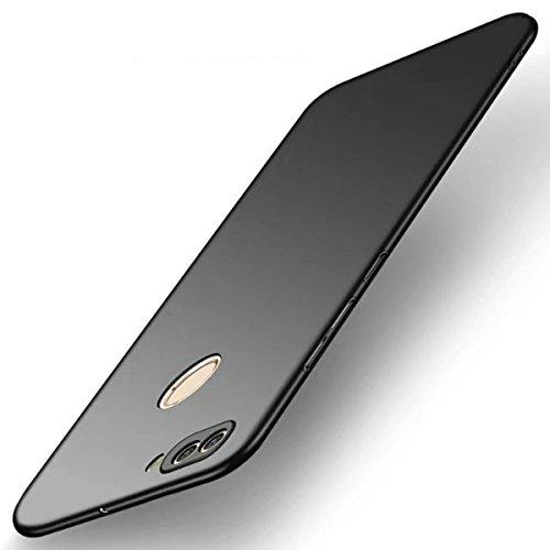 Funda Huawei P SMART, TIANQIN Ultra-Delgado Carcasa Protectora Ultra Ligera PC Plástico Duro Case Anti-Rasguños Parachoque Estilo Simple para Huawei P SMART Estuche - Negro