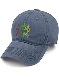 51db15454311b G Binggo Lion of Judah Rasta Reggae Roots Denim Gorra de béisbol Hombre  Mujer Ajustable Papá