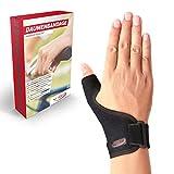 Vigo Sports® medizinische (universal) Daumenbandage für links & rechts – Elastische Daumenschine für Damen & Herren | Daumenorthese z.B. für Sattelgelenk, Kapselriss & Sehnenscheidenentzündung etc.