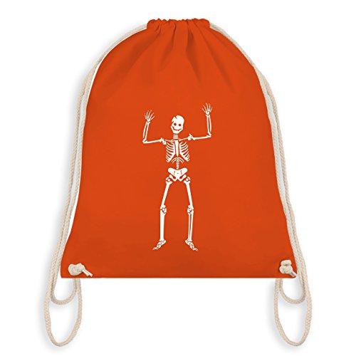 Halloween - Skelett Skeleton - Turnbeutel I Gym Bag Orange