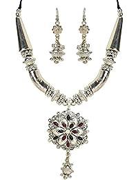 Chandrika Pearls Navratri Garba Dandia Tribal Design Boho Pattern Oxidised Jewellery Set For Girls & Women - B078Y6T71C