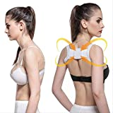 BBJIA RückenstützenZurück Schulterhaltung Korrektur der Erwachsenen Kinder Korsetten Unterstützung Gürtelkorrektur Bra Correct Posture Health Eine weiße Größe.